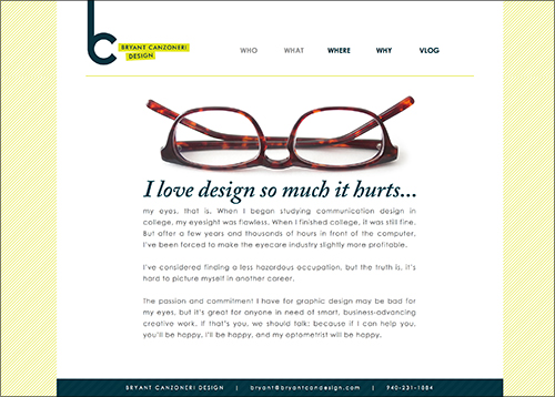 Bryant Canzoneri Design website